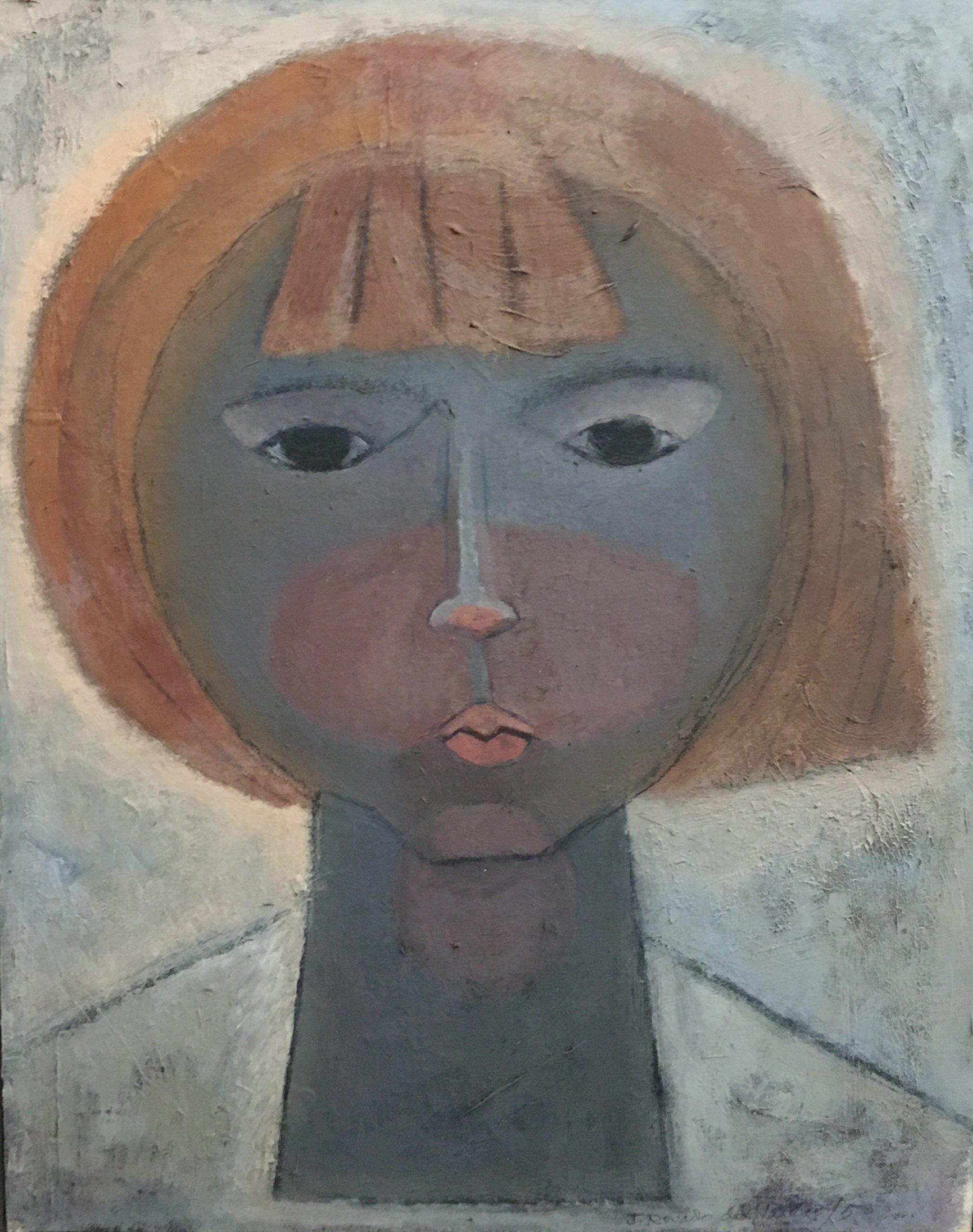 """Julio Rosado del Valle: Carmencita (1958). Oil on canvas. 17"""" by 19"""""""