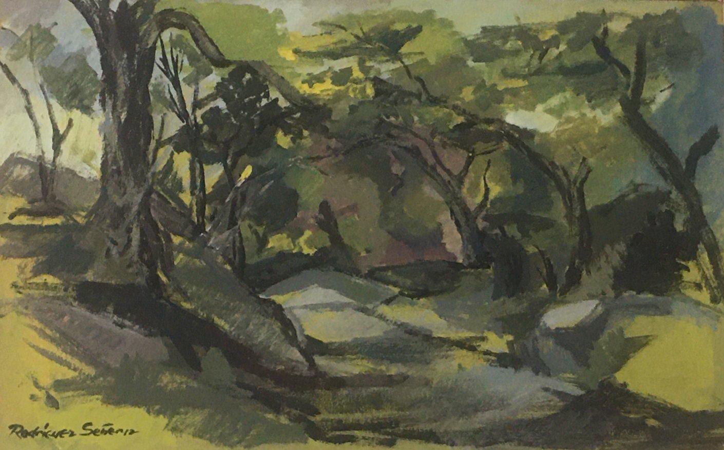 "RodriguezSenerez-Pastoral (undated)Oil on canvas 20"" x 13"""