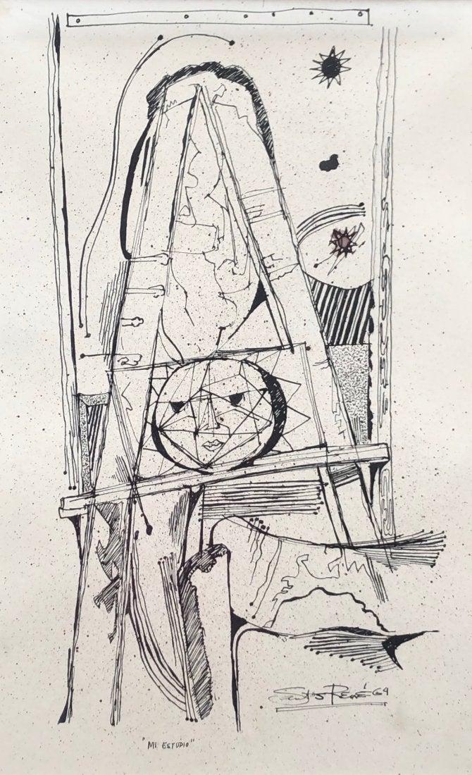 Santos René Irizarry: Mi Estudio (1964)Ink on paper 13 x 21
