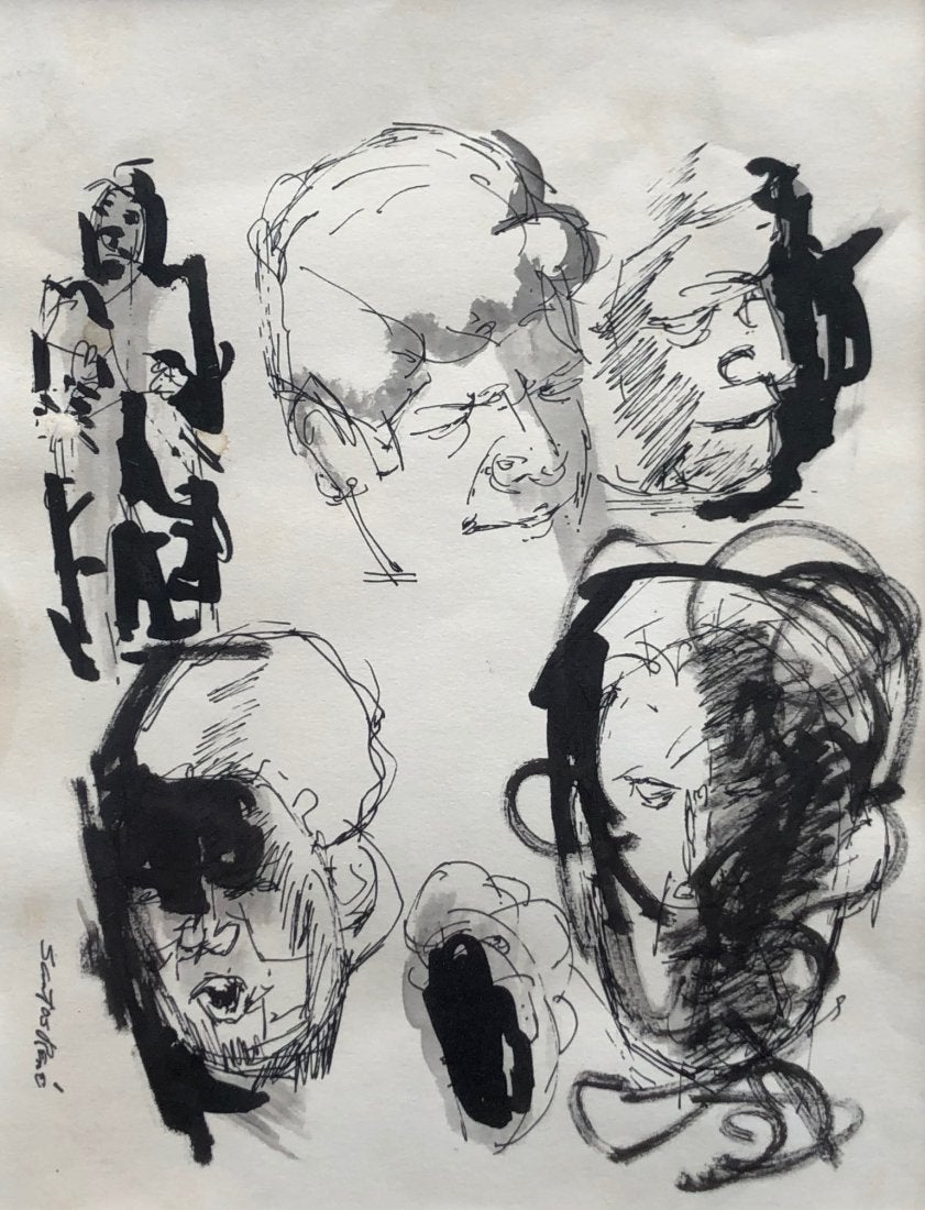Santos René Irizarry: Ink Drawing (undated)Ink on paper 11.75 x 14.75